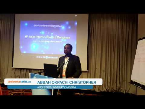 Abbah Okpachi Christopher  | Nigeria | Asia-Pacific Pharma  2016 | Conference Series LLC