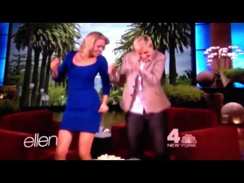 Laurie Holden dancing on The Ellen