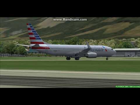 American Airlines B737 Port au Prince Airport MTPP Landing FS9