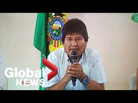 Bolivia's President Evo Morales Resigns Amid Pressure Over Election Fraud Allegations