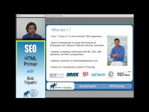 HTML Primer By Bob Tripathi, Founder Instant E-Training