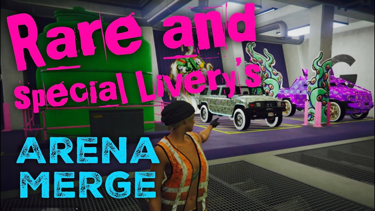 Repeat GTA ONLINE ARENA MERGE LIVERY INFORMATION LENNY AND TUNA PS4