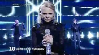 Dansk Melodi Grand Prix 2010 - Come come run away - Silas og Kat.
