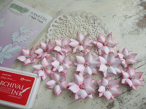 ♡ EASY Poinsettia paper flowers ♡ #ladyedesign #ladye