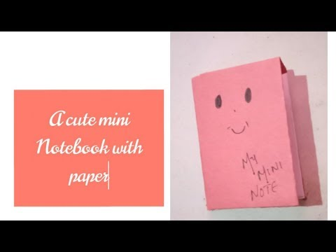 How to make a cute mini note booo with paper....Creative Diy Creative