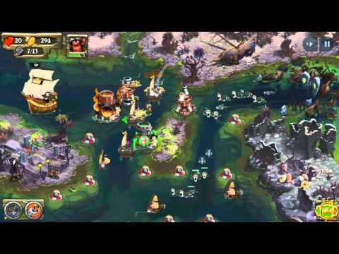 Pirate Legends TD Tower Defense Gameplay on Android - Level 9