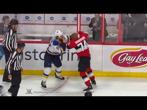Chris Thorburn vs Mark Borowiecki Jan 18, 2018