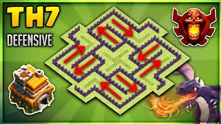 Undefeated Coc Th 7 Best Base 2