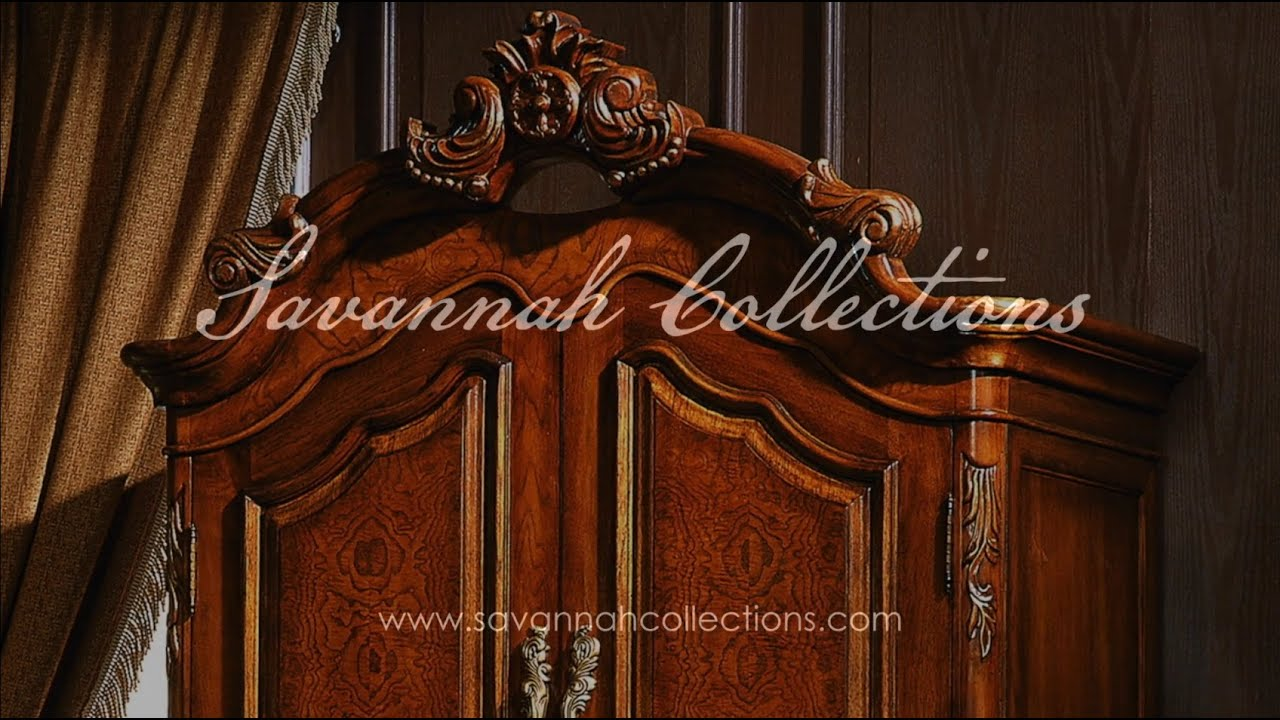 Victorian Furniture Armoire (Mahogany) By Savannah Collections   Marge  Carson