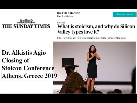 Stoicon Conference Athens, Greece Closing by Dr. Alkistis Agio Featured in SUNDAY TIMES of LONDON.