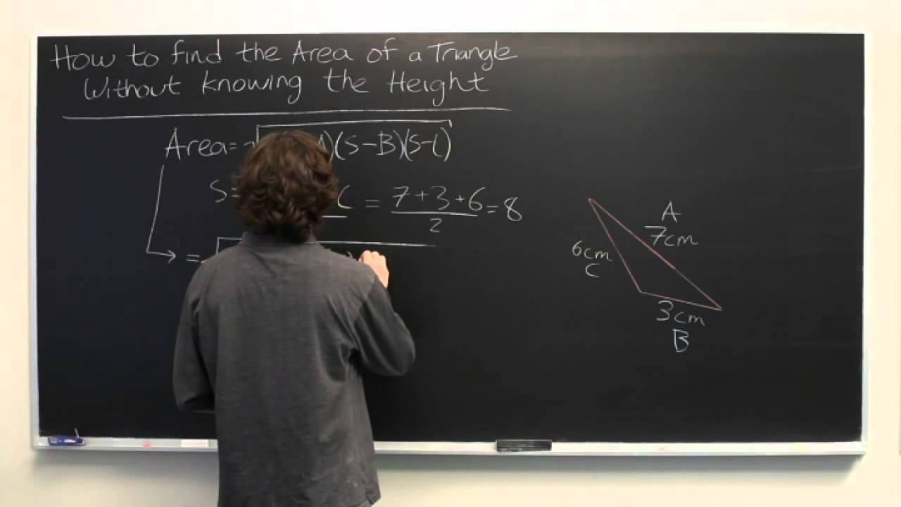 How to find the area of an isosceles triangle without knowing the how to find the area of an isosceles triangle without knowing the height youtube ccuart Image collections