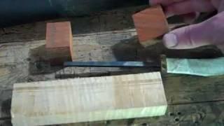 Making a stick tang, puukko knife