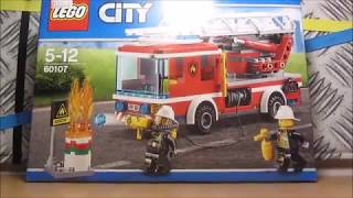 Обзор LEGO Сity 60107 Пожарный автомобиль с лестницей