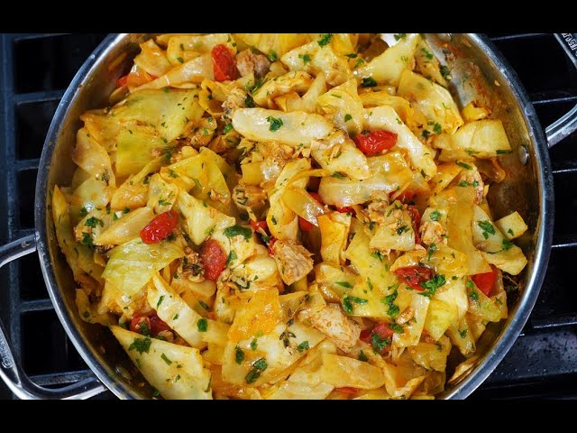Cabbage With Salmon #FishFriday | CaribbeanPot.com