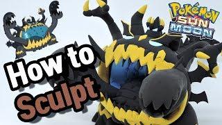 Sculpting Guzzlord Ultra Beast in Clay