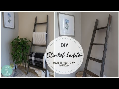 FARMOUSE DIY BLANKET LADDER | RUSTIC HOME DECOR | MAKE IT YOUR OWN MONDAY | WOODEN LADDER
