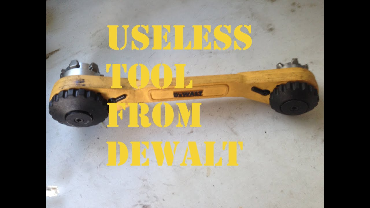 Ordinaire Dewalt Usless Adjustable Ratcheting Socket Wrench   YouTube