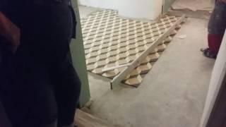 видео 3D плитка для ванной - раскладка плитки 3d в ванной комнате