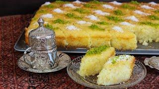 Türkisches Dessert - Revani Tatlisi - Grießkuchen