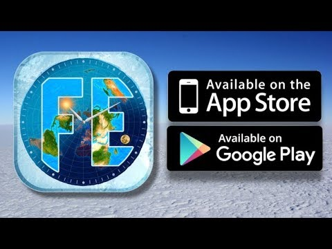 Flat Earth Sun and Moon Clock, available on  Android & Apple app stores