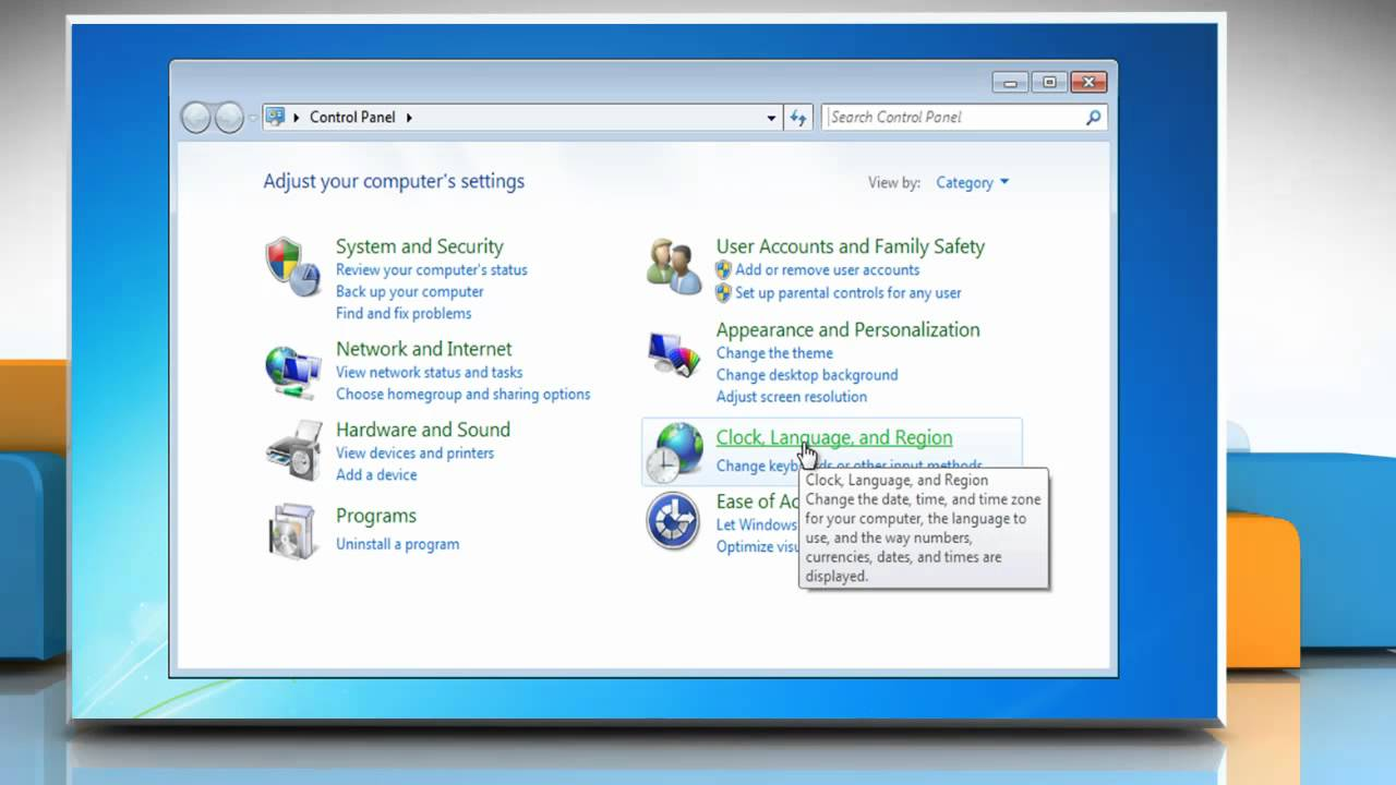 How to change the default keyboard settings in Windows® 7
