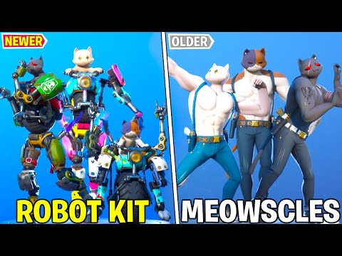 KIT Vs MEOWSCLES In Fortnite Dance Battle! Old Cat Vs New Cat - Chapter 2 Season 3!