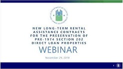 Preservation of Pre-1974 Section 202 Direct Loan Properties Webinar - 11/29/2018