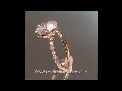 2.40 ct Oval Diamond Engagement Ring in Rose Gold