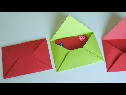วิธีพับซองจดหมายจากกระดาษแบบง่ายๆ How to fold envelopes from paper I Fon DIY