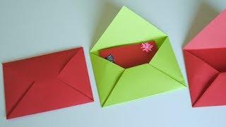 วิธีพับซองจดหมายจากกระดาษแบบง่ายๆ How to fold envelopes from paper