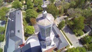 Memorial Presbyterian Church Midland Michigan from the Eye in the Sky