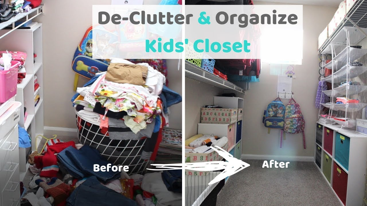 Declutter And Organize Kids Clothes