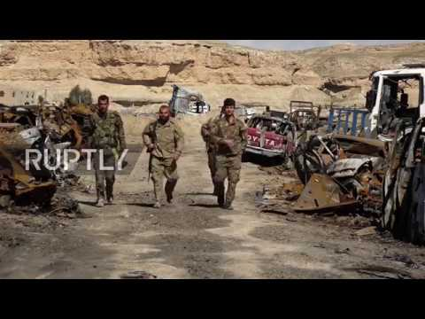 Syria: First Images of SDF forces in liberated IS camp near Baghouz