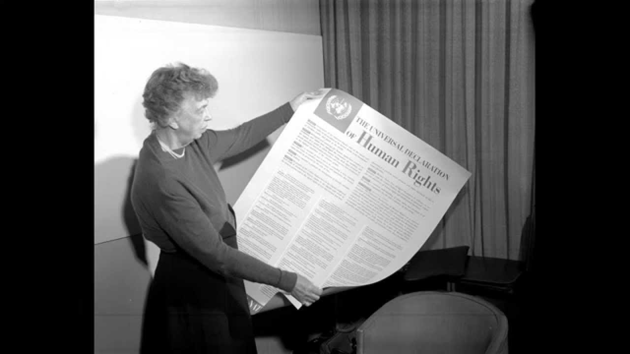 an analysis of elenor roosvelts speech for human rights Ine speeches and essays written by fdr and eleanor roosevelt as well as political documents such as the atlantic charter and the universal declaration of human rights (udhr).