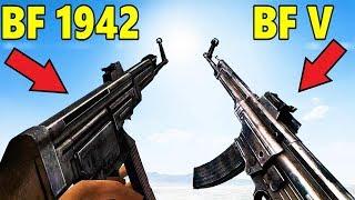 Battlefield V vs Battlefield 1942  Weapons Comparison - Sounds, Models, Animations