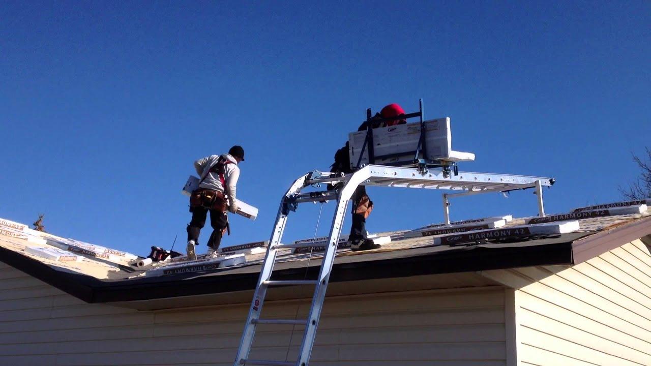 Roofing Shingle Hoist Youtube