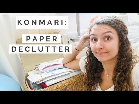 DECLUTTERING MY PAPERWORK | KonMari method | Minimalism