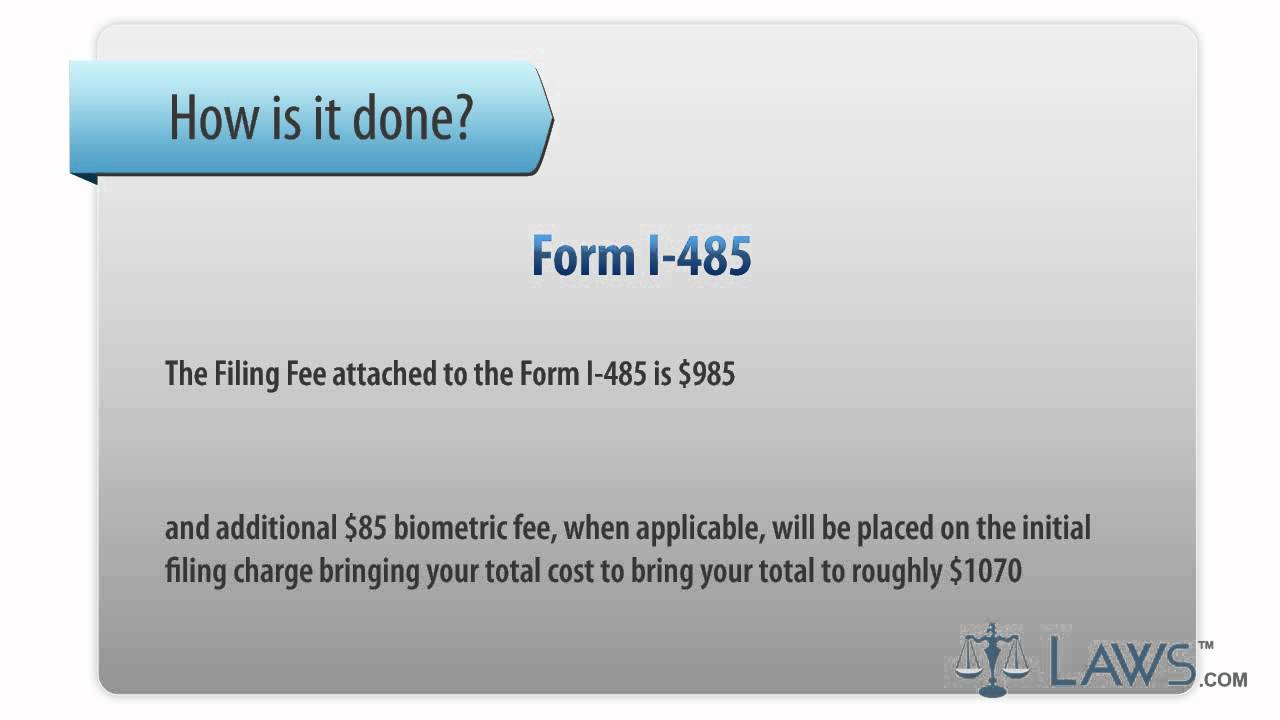 form i 485 cost  Form I-14