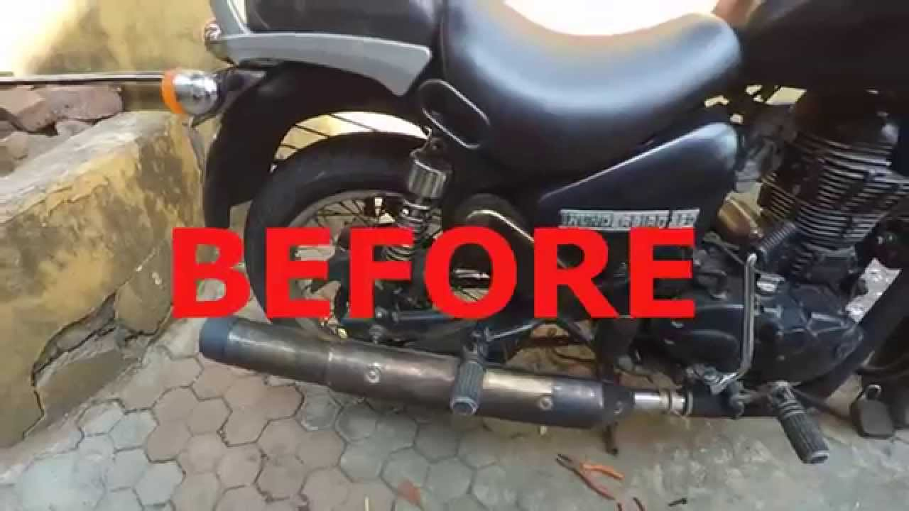 Changing Exhaust On Royal Enfield Thunderbird 350 Sans Goldstar