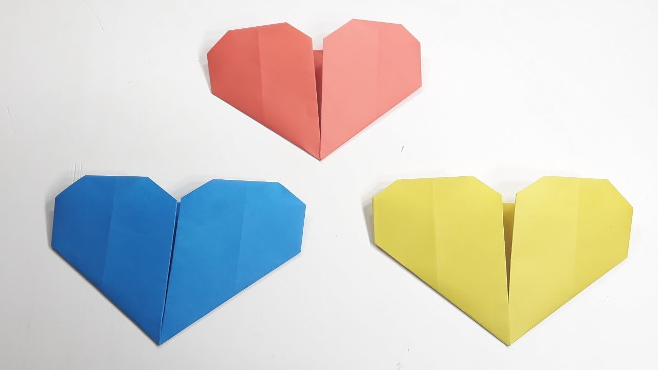 How To Make A Easy Paper Heart Origami Heart Folding Instructions