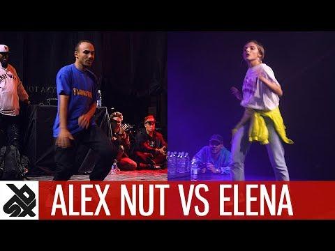ALEX NUT vs ELENA feat KPOM  Dance Battle To The Beatbox 2017  SEMI FINAL  WBC X FPDC