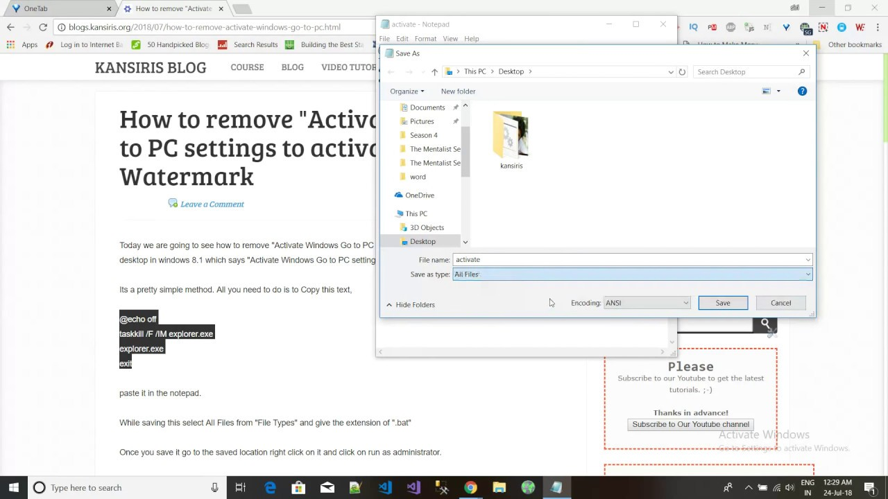remove activate windows go to settings to activate windows