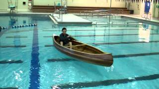 East High Cedar Strip Canoe - Maiden Voyage