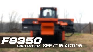 Wood-Mizer FS350 Powerful Skid Steer Log Splitter in Action