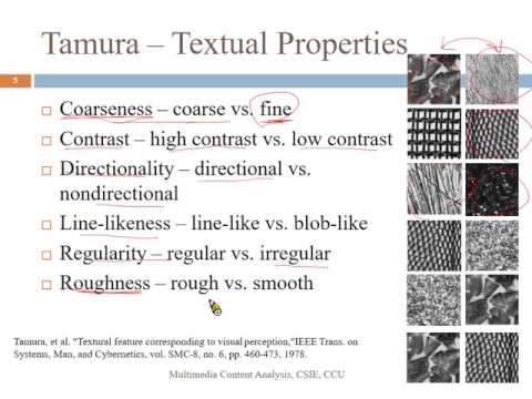 Multimedia Content Analysis -- 9_Texture for CBIR