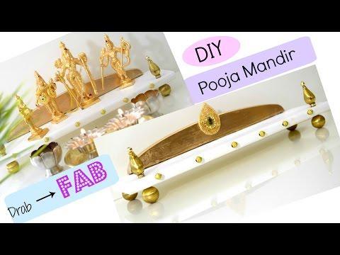 DIY Pooja Mandir/Mandap with Chopping Board / Foam board | Drab to Fab