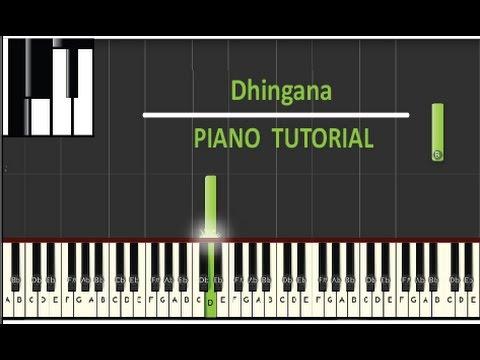 Dhingana Piano Tutorial | Raees | Ram Sampath | Shah Rukh Khan