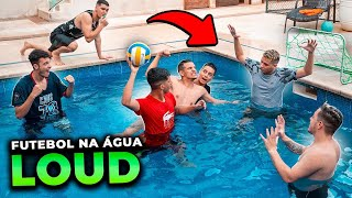 FUTEBOL DE PRO PLAYERS E INFLUENCIADORES NA PISCINA DA LOUD!!