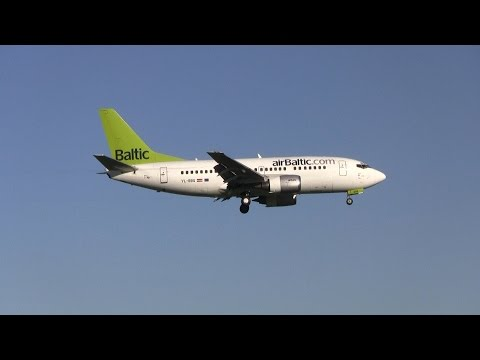 Air Baltic ► Boeing 737-500 ► Landing ✈ Amsterdam Airport Sc