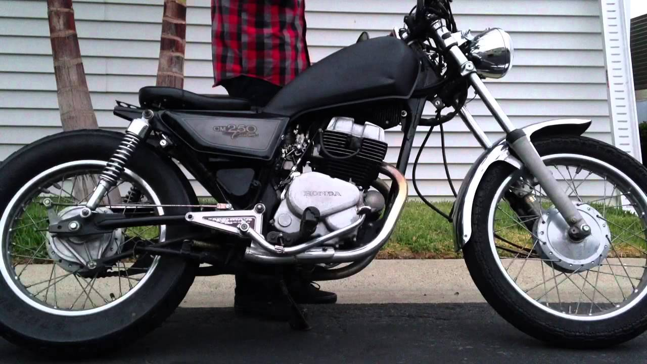 1983 honda rebel cm250 bobber youtube. Black Bedroom Furniture Sets. Home Design Ideas